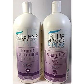 Cirugía Capilar Blue Hair 2 pasos (32 Oz) 946 ML SHAMPO-ALISADOR