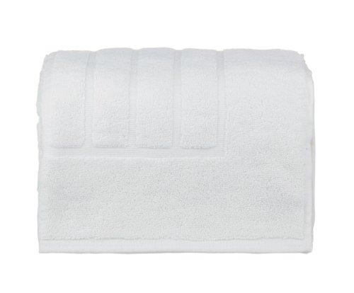 glo Organic Stripe (White)-Bath Mat