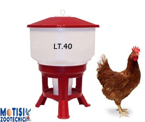 Novital Abbeveratoio a sifone KUBIC da lt.40 - Ideale per polli, galline, tacchini e gallinacei di media e grossa taglia