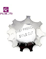 KADS Nail Art Manicure Edge Trimmer Nail Cutter Tool Nail Gel Easy French Smile Line Nail Acrylic Tool with 11 Sizes