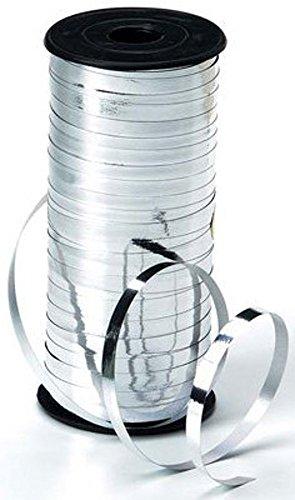 Darice Silver Ribbon - Curling Ribbon - 5mm wide - Metallic Silver - 100 yards