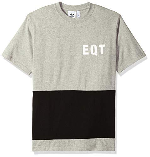 adidas Originals Mens EQT Panel Graphic Tee, Medium Grey Heather, M