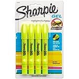 Sharpie 1780476 Accent Gel Highlighter, Fluorescent Yellow, (4-Pack of 4)