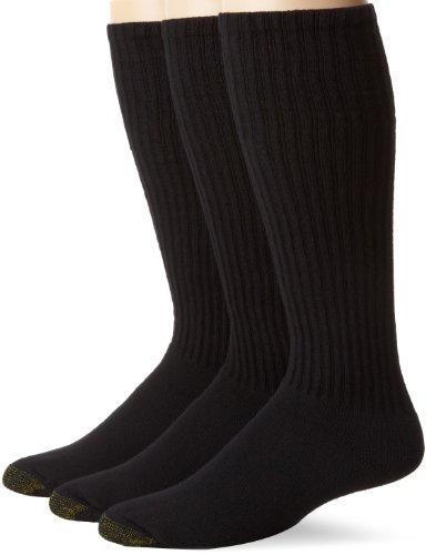 - Gold Toe Men's Ultra Tech Over The Calf Sock, 3 Pack, Black, Sock Size:10-13/Shoe Size: 6-12