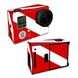 MightySkins Protective Vinyl Skin Decal Cover for GoPro Hero3 Camera Digital Camcorder wrap sticker skins Scuba Flag