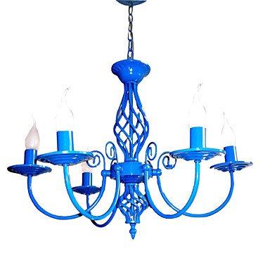 E 14 x 5 TY azul Color lámpara de techo diseño de lámpara de ...