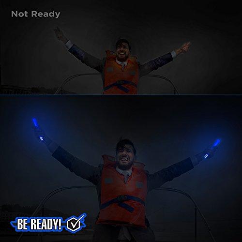Be Ready Blue Glow Sticks - Industrial Grade 8+ Hours Illumination Emergency Safety Chemical Light Glow Sticks (24 Pack) by Windy City Novelties (Image #2)