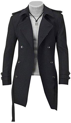 Blazer Uomo Cappotto Design Giacca Moda Sottile Jeansian Tendenza Inverno Casual Capispalla 8948 Black 5Y4x1qv