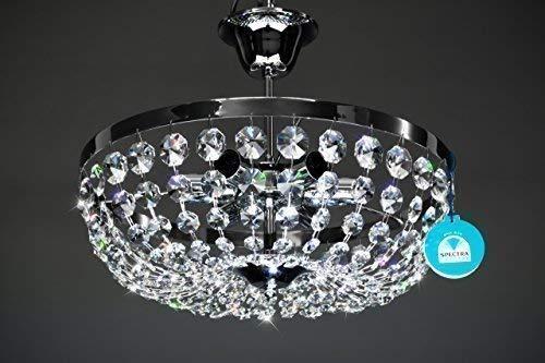 Plafoniera Cristallo Swarovski : Lampadario plafoniera o cm luci fabbricato di cristallo