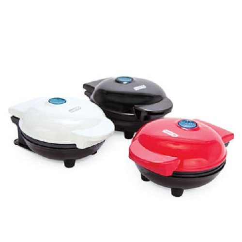 (Dash MINI Maker 3-Piece Griddle, Waffle, and Grill 3-piece Set in Red/Aqua/White)