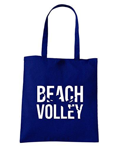 T-Shirtshock - Bolsa para la compra SP0038 Beach Volley Maglietta Azul Marino
