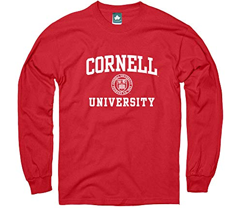 Ivysport Cornell University Long-Sleeve T-Shirt, Crest, Red, X-Large (Cornell Vintage Apparel)