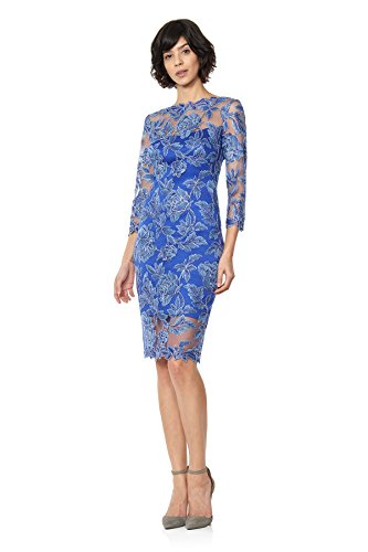 Tadashi Shoji Women's 3/4 Sleeve Embroidered Dress