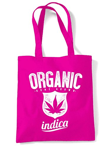Cotton Shopping Pink Cannabis Indica Shoulder Organic Marijuana Indica Cannabis Marijuana Organic Bag HPxdqwq