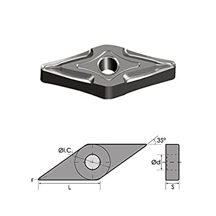 Micrograin Grade AR 4 Size American Carbide Tool Carbide-Tipped Tool Bit for Straight Turning 0.25 Square Shank Right Hand