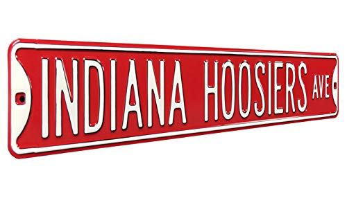 "Authentic Street Signs 70015 Indiana Hoosiers Ave, Heavy Duty, Steel Street Sign, 36"" x 6"" from Authentic Street Signs"