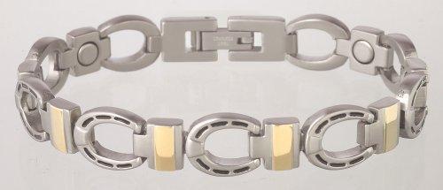 Sabona Silver Horseshoe Duet Magnetic Bracelet - Large
