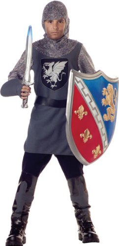 Valiant Knight Childrens Costumes (Valiant Knight Child Costume - Medium)