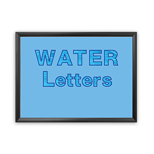 Water Border Punch - Hygloss Products Bulletin Board Letters and Numbers - Punch Out Water Design Combo - 3 Inch, 350 Pieces