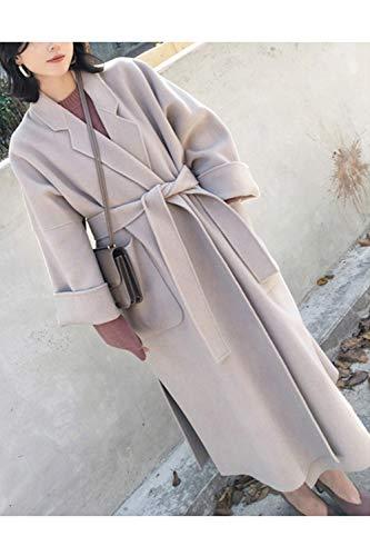 Décontracté Femmes En coloré X large Pour Gris Outwear Cardigan Manteaux Kimono Hiver Taille Laine Noir Poches Avec 5qvSYx1