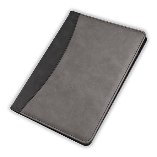 Samsill Two-Tone Padfolio – Resume Portfolio / Business Portfolio & Organizer, Writing Pad (Black & Gray, Letter Size)