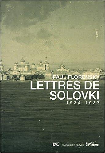 Livre Lettres de Solovki (1934-1937) pdf epub