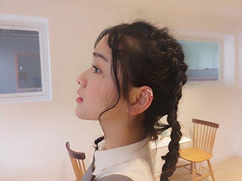 Aifeer Sterling Silver Non Pierced Ear Stud Earrings 5 Pearls Wrap Cuff Clip On Ear Clamp (A Pair) by Aifeer (Image #4)