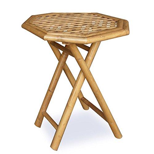 Octagonal Poker Tabletop (Oahu Bamboo Octagonal Folding End Table)