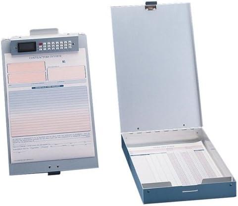Saunders 11017 Redi-Rite Aluminum Storage Clipboard 1 Capacity Holds 8-1//2w x 12h Silver