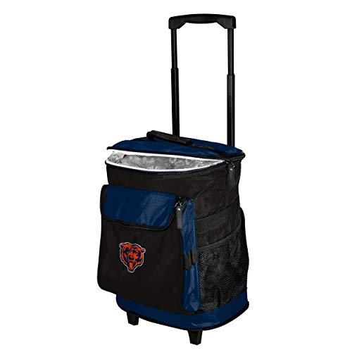 Logo Brands Chicago Bears 48-Can Rolling Cooler with Wheels and Backpack Straps ()