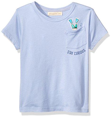 98 Coast Avenue CAM BU OC NO Camiseta de Manga Corta para Niños, Color Azul, 1-2 Años