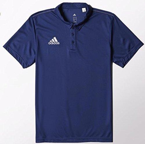 週末ささいな情緒的アディダス メンズ サッカー Core 15 CL ダークブルー/ホワイト半袖ポロシャツJ/O