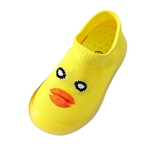 (Londony ♪ Infant Baby Girl Boys Shoes Soft Sole Toddler Ballet Flats Baby Walking Shoes Soft Soles Crib Shoe Sneaker Yellow)