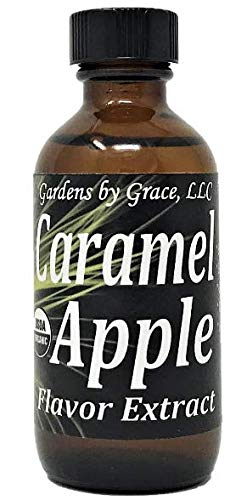 Organic Flavor Extract Caramel Apple | Use in Gourmet Snacks, Candy, Beverages, Baking, Ice Cream, Frosting, Syrup and More | GMO-Free, Vegan, Gluten-Free, 2 oz ()
