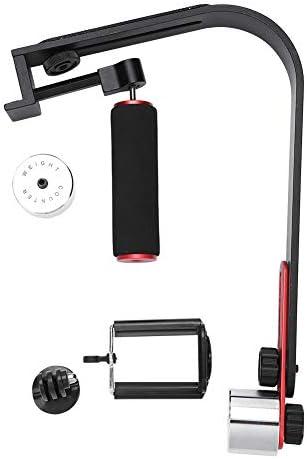 カメラスタビライザー 電話クリップアダプター付き アルミ合金 ハンドヘルド カメラスタビライザー Goproスマートフォン用 手