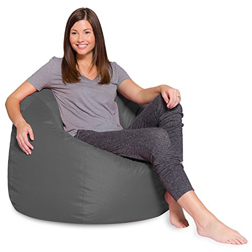 Posh Beanbags AMZ-35-HT-GRY Bean Bag, 35in, Heather: Gray
