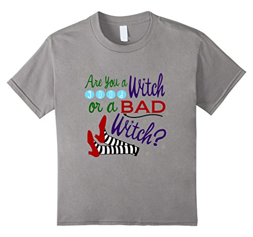 [Kids Are You A Good Witch Or A Bad Witch T-Shirt 6 Slate] (Good Witch And Bad Witch Costumes)