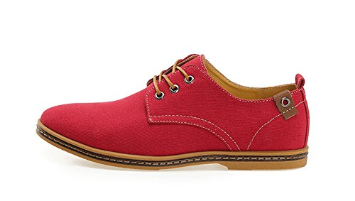 xie Four Seasons Hommes Toile Chaussures Tendance Grande Taille Hommes Chaussures Décontractées Chaussures 38-46 rouge D6LcpFU