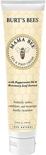 Burt's Bees Mama Bee Leg & Foot Cream with Peppermint Oil - 3.38 Ounce Tube (Pack of 2)
