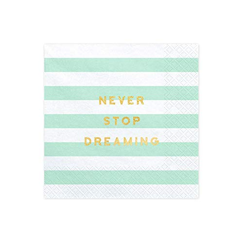 kins x 20 Mint and White Stripe 'Never Stop Dreaming' ()