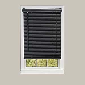 Achim Home Furnishings Morning Star 1-Inch Mini Blinds, 36 by 64-Inch, Black