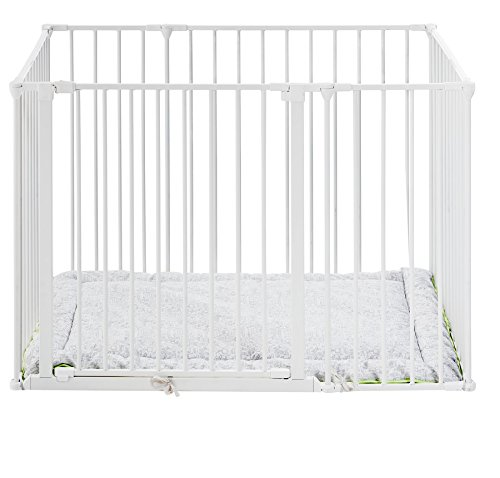 BabyDan Square Playpen with Play Mat (White) 69114-10400-1305-05-75