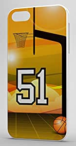 Basketball Sports Fan Player Number 51 Clear Rubber Decorative iPhone 5/5s Case