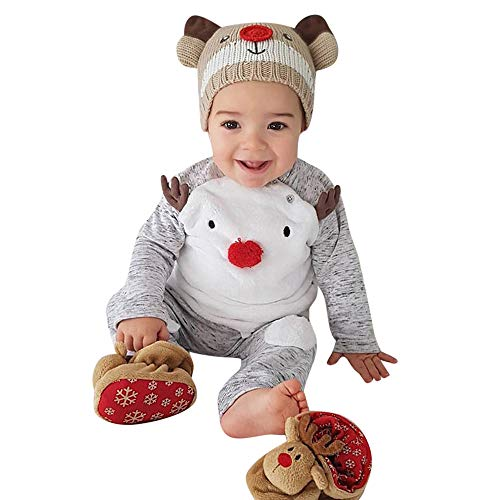 Price comparison product image Willsa Baby Clothes Sets,  Newborn Baby Cute Christmas Cartoon Deer Printing T Shirt+Warm Pants Outfits Sets