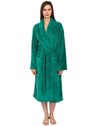 - TowelSelections Women's Super Soft Plush Bathrobe Fleece Spa Robe Medium/Large Green Lake