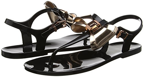 Bout Multicolore black rose Ted Ouvert Sandales Femme Gold Ainda Baker OY0qxw08