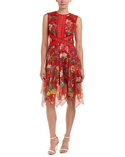 Tadashi Shoji Womens A-Line Dress, 10, Red