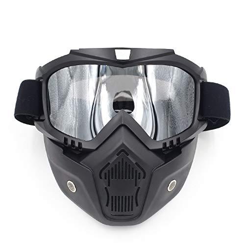 Lente Shuo Libre Monta de de través máscara Campo Gafas de la al máscara el Casco Aire de la Motocicleta Equipo la de Que a la Blue Silver la máscara lan Harley Color New máscara de 0wZqxTr40