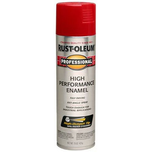 Rust-Oleum 7564838 Professional High Performance Enamel Spray Paint, 15 oz, Safety Red (Crimson Red Spray Paint)