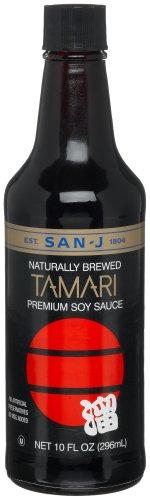 San-J Tamari Premium Soy Sauce, 10-Ounce Bottles (Pack of 6) ()